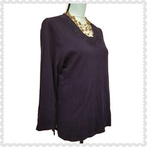 Birch Hill Vintage Sequins Beads Embroidered Top M